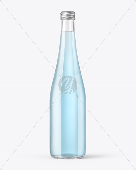 Clear Glass Soft Drink Bottle Mockup