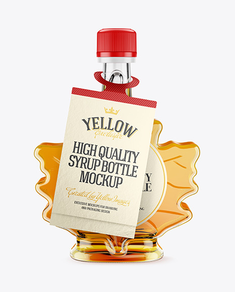 Download Maple Syrup Bottle W Tag Mockup In Bottle Mockups On Yellow Images Object Mockups Yellowimages Mockups