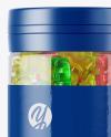 Gummy Bears Plastic Jar Mockup