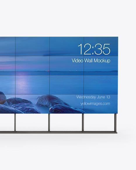 Wide Video Wall Mockup