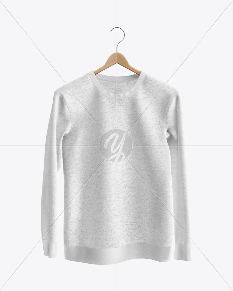 Download Heather Sweatshirt On Hanger Mockup Front View Yellowimages