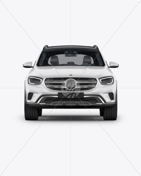 Compact Crossover SUV Mockup - Front View - Yellowimages Mockups