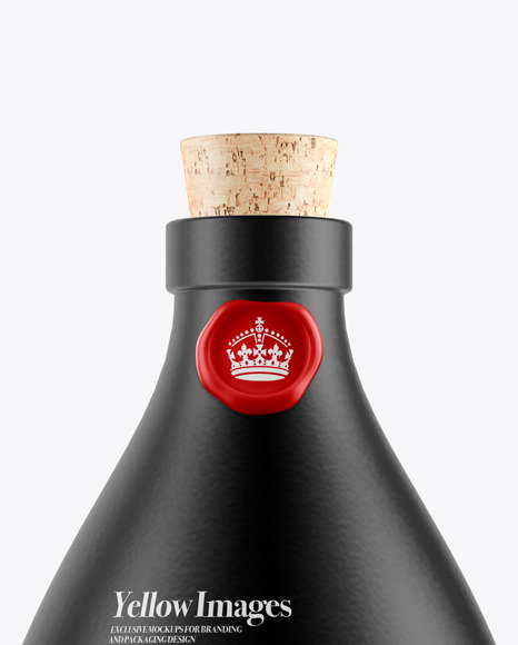 Download Matte Ceramic Bottle With Label Mockup PSD - Free PSD Mockup Templates