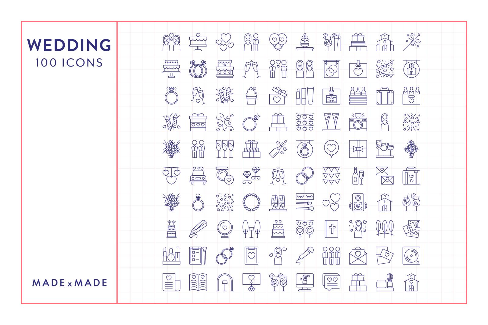 Line Icons – Wedding