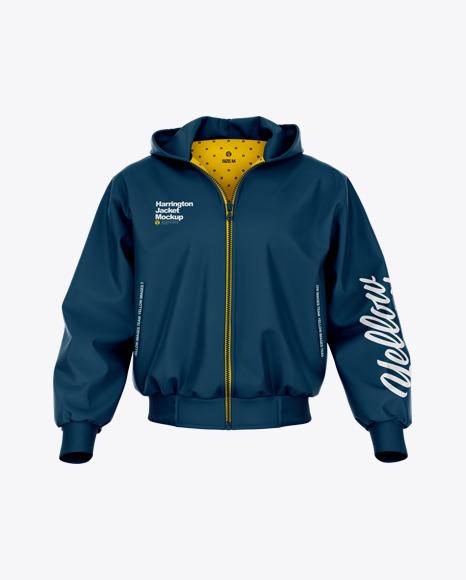Harrington Hooded Jacket - Front View