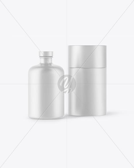 Ceramic Bottle w/ Paper Tube Mockup