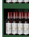 Stand with Red Wine Bottles Mockup