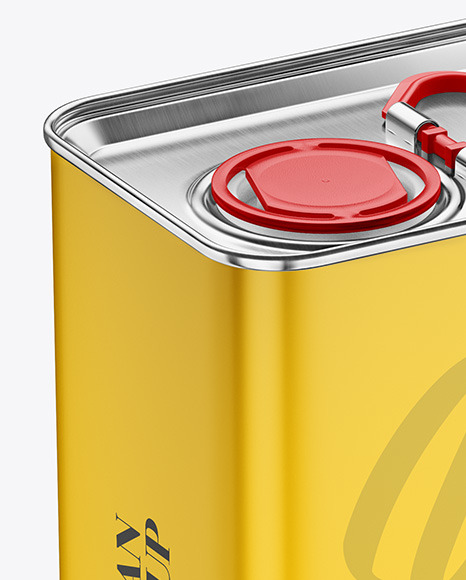 Oil Tin Can Mockup