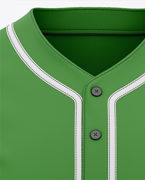 Men's Baseball Jersey Mockup - Front View - Baseball T-shirt