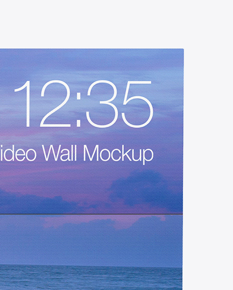 Advertising Video Wall Mockup