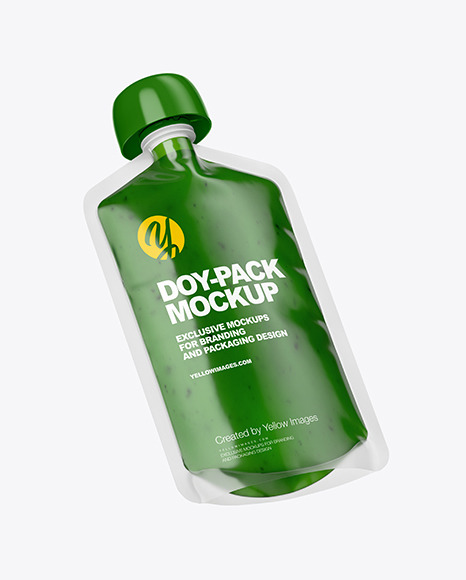 Doy-Pack with Smoothie Mockup