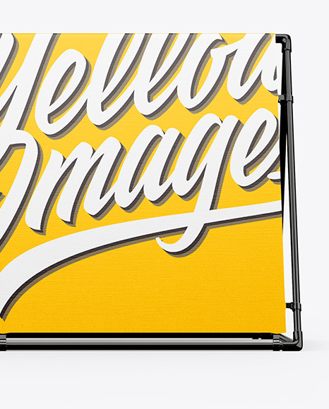 Glossy Frame Banner Mockup