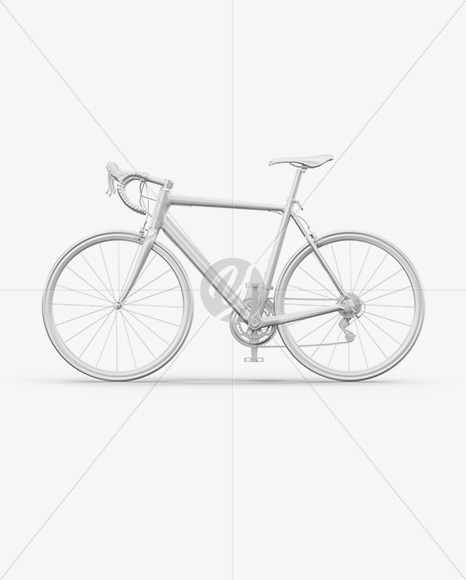 Road Universal Bicycle Mockup - Left Side View