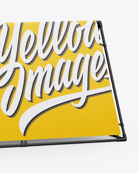 Matte Frame Banner Mockup