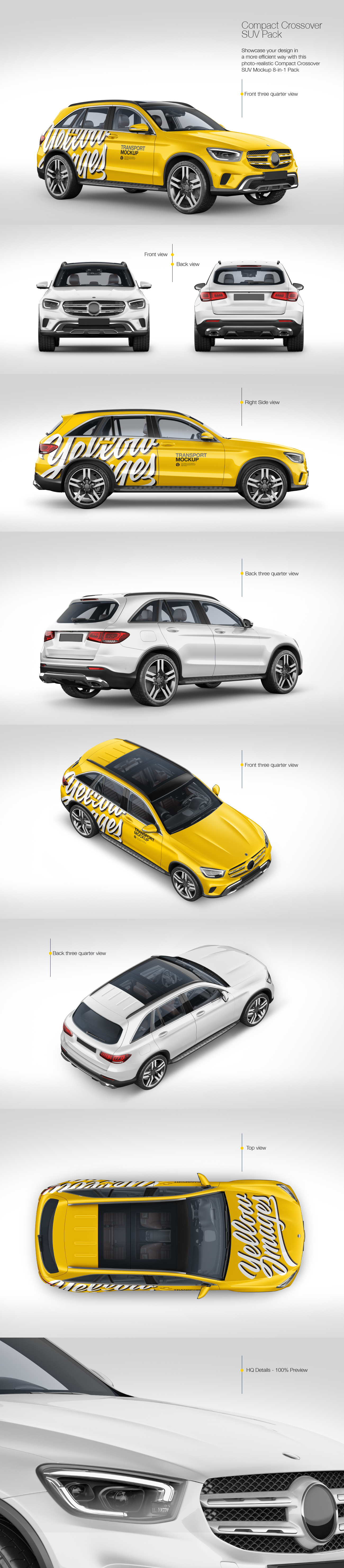 Compact Crossover SUV Mockup Pack