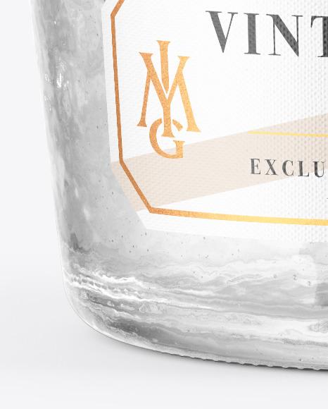Clear Antique Bottle Mockup
