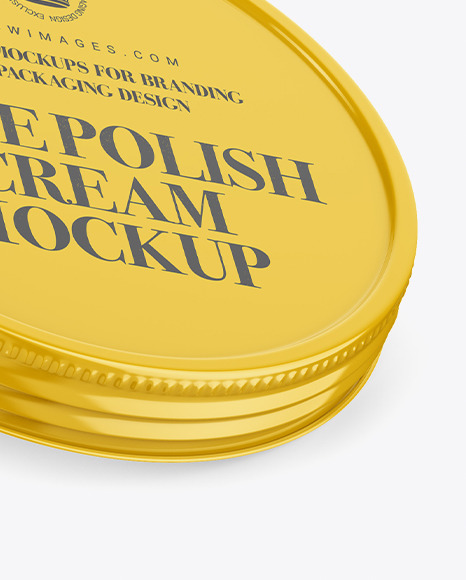 Glossy Shoe Polish Cream Jar Mockup