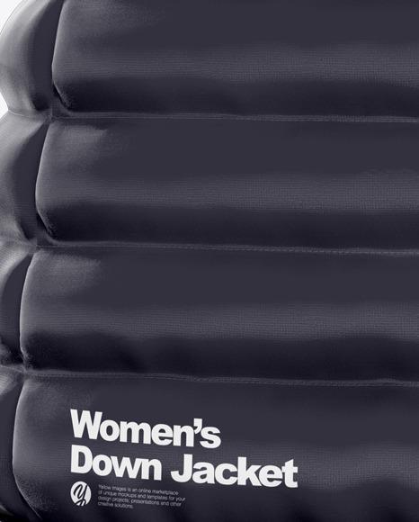 Women's Down Vest Mockup - Back View