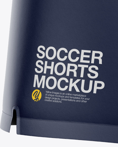 Men's Soccer Shorts Mockup