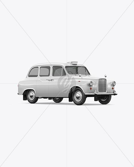 Retro Cab Car Mockup - Half Side View - Yellowimages Mockups