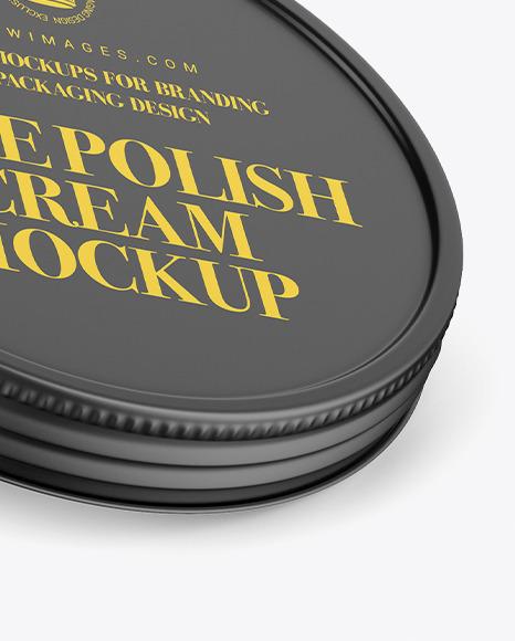 Matte Shoe Polish Cream Jar Mockup