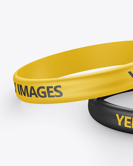 Download Silicone Wristband Mockup Free Psd Yellow Images