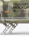 Opened Metallic Food Trailer Mockup - Side View