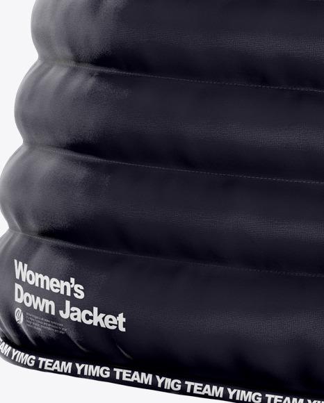 Women's Down Jacket Mockup - Half Side View