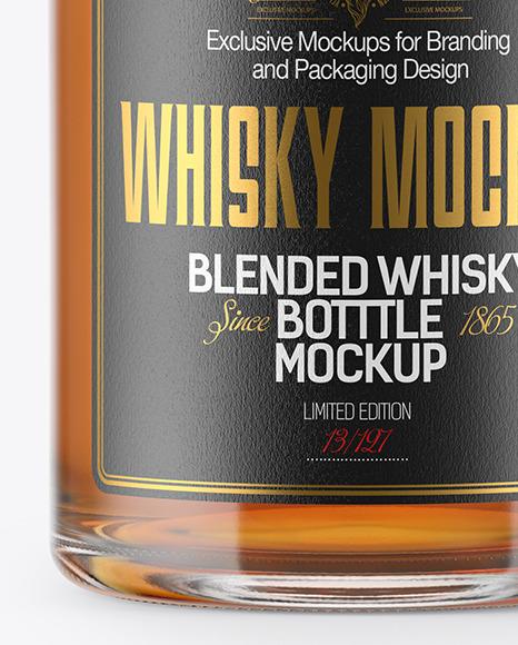 Whiskey Bottle w/ Paper Tube Mockup