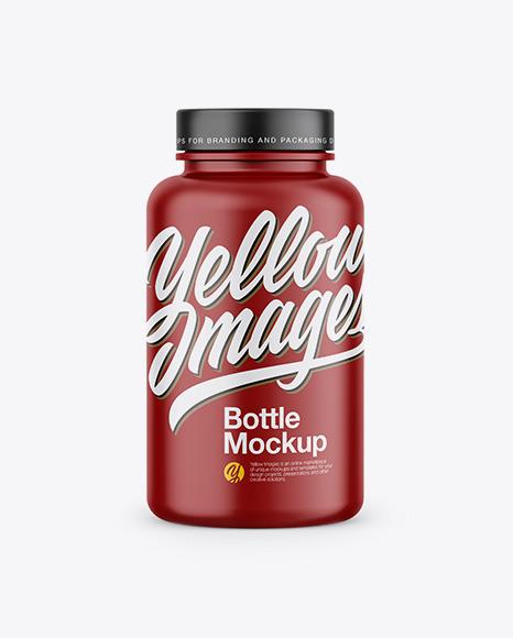 Matte Bottle In Shrink Sleeve Mockup