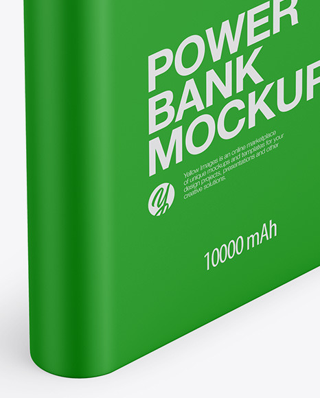 Matte Power Bank Mockup - Halfside View