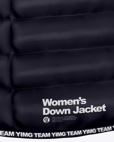 Women's Down Jacket Mockup - Half Side View