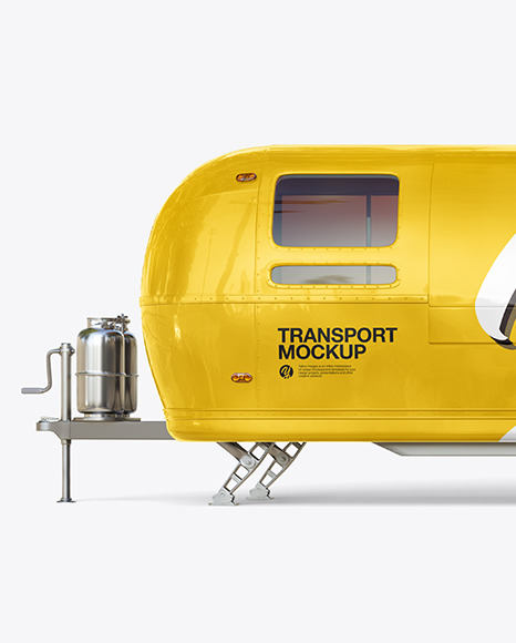 Food Trailer Mockup - Side View