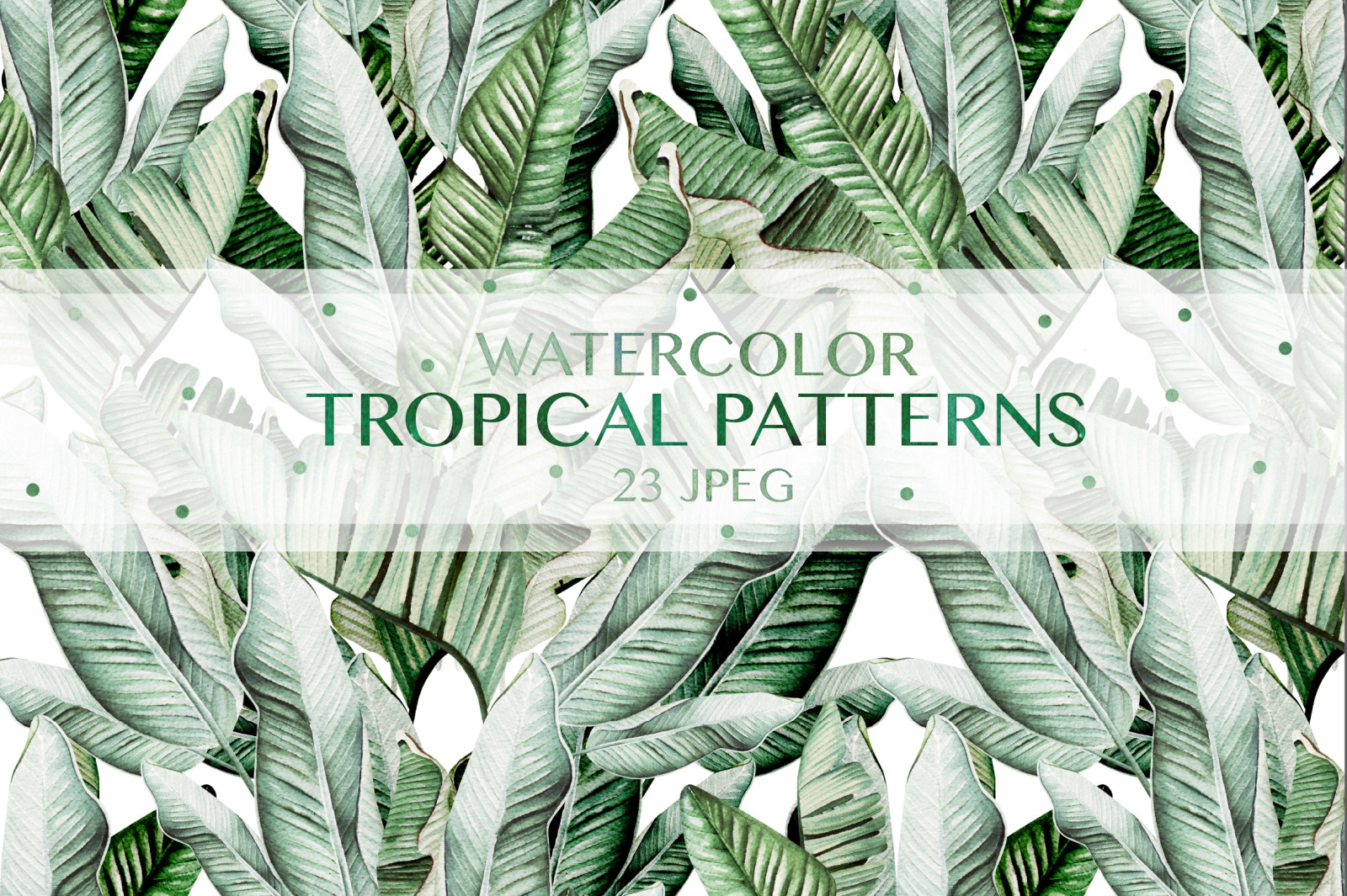 23 Watercolor tropical patterns