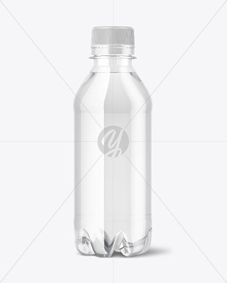 250ml PET Water Bottle Mockup