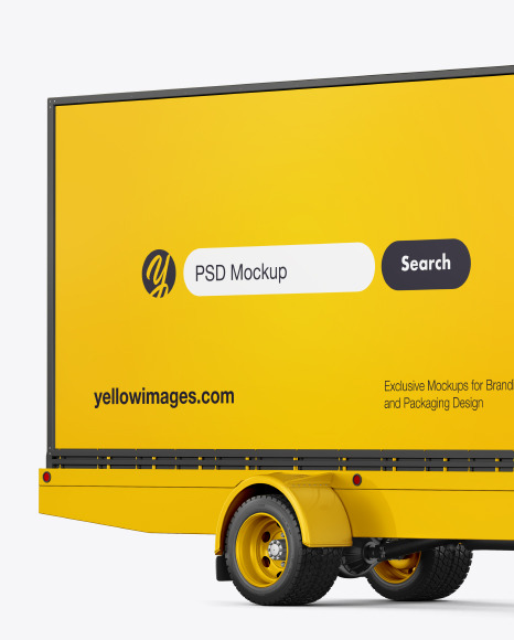 Mobile Billboard Mockup - Front View