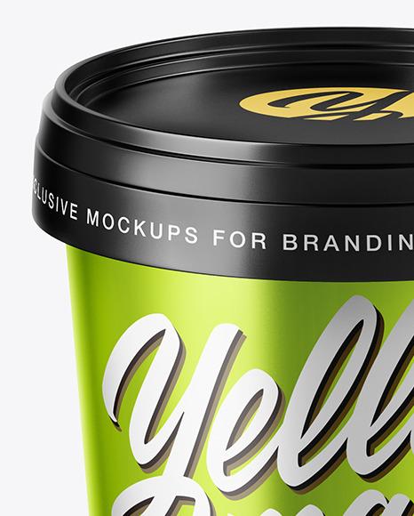Metallized Ice Cream Cup Mockup