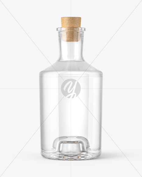Dry Gin Bottle with Cork Mockup