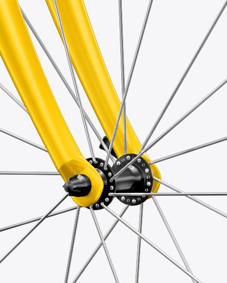 Road Universal Bicycle Mockup - Halfside View