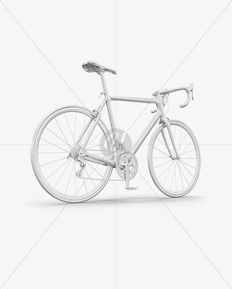 Road Universal Bicycle Mockup - Back Half Side View - Yellowimages Mockups