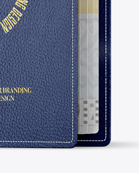 Matte Leather Passport Mockup