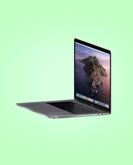 Space Gray MacBook Pro Mockup