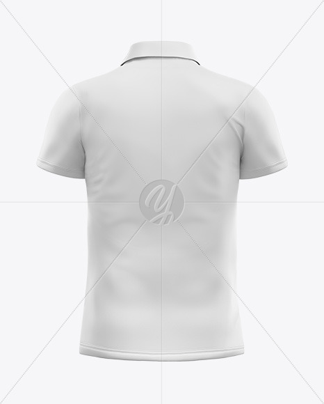 Men's Polo T-shirt Mockup - Back View