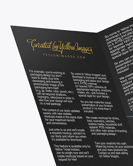 Textured A5 Brochure Mockup
