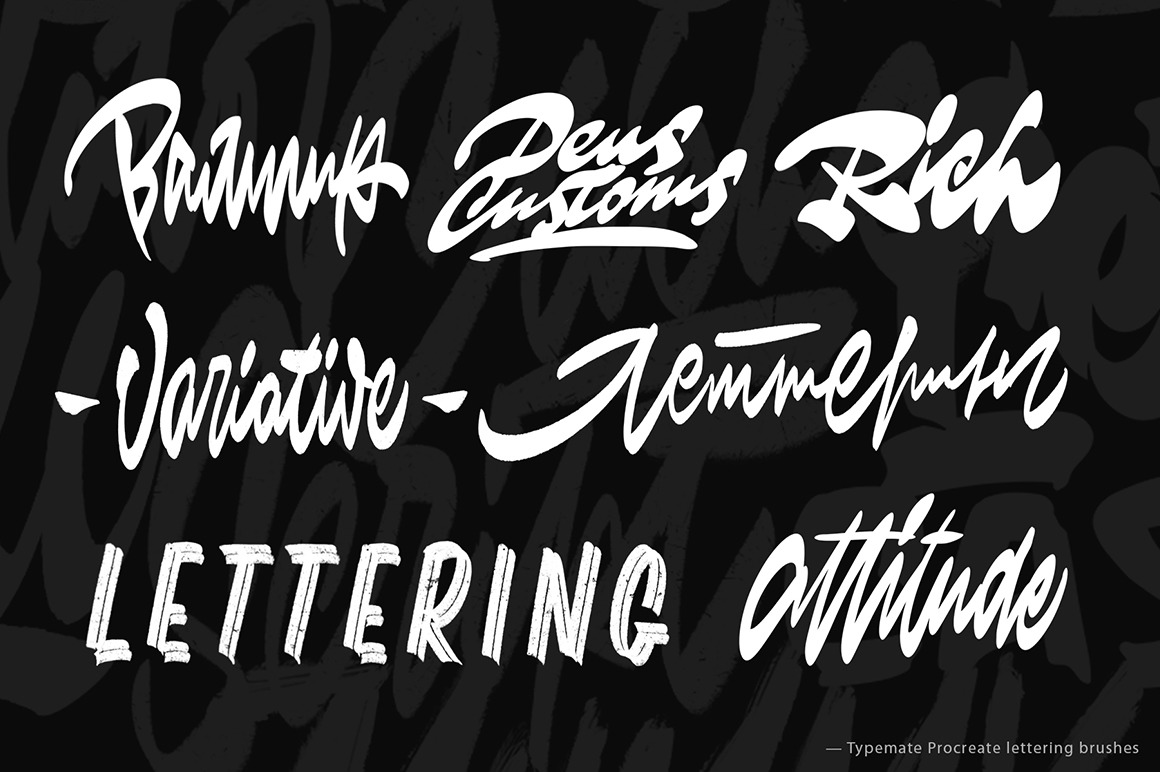Typemate Procreate Lettering Brushes