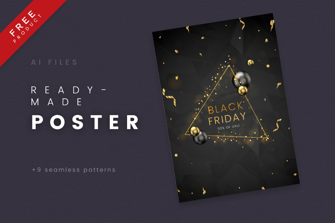 Black Friday / Vector Graphic Poster Free