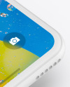 iPhone XR Clay Isometric Floating Right Mockup
