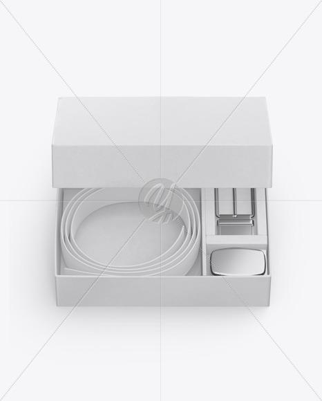 Kraft Belt Box Mockup
