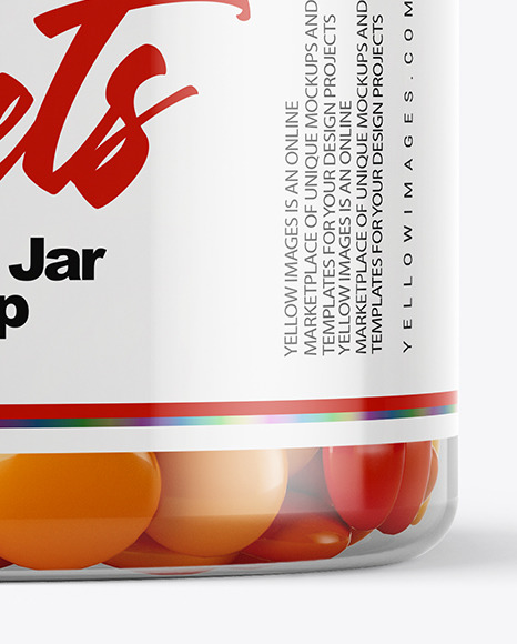 Plastic Jar with Sweets Mockup