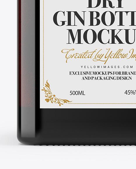 Dark Glass Bottle Mockup